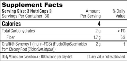 Performance Lab Prebiotic ingredients