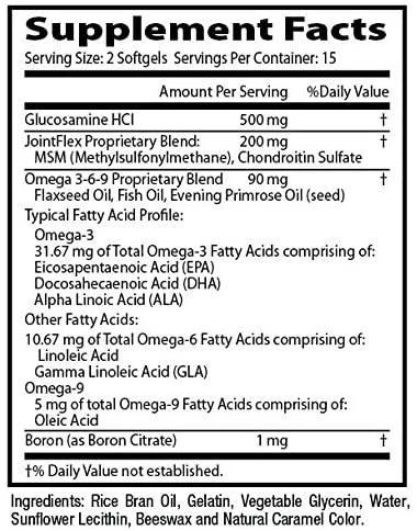 Flexitrinol ingredients