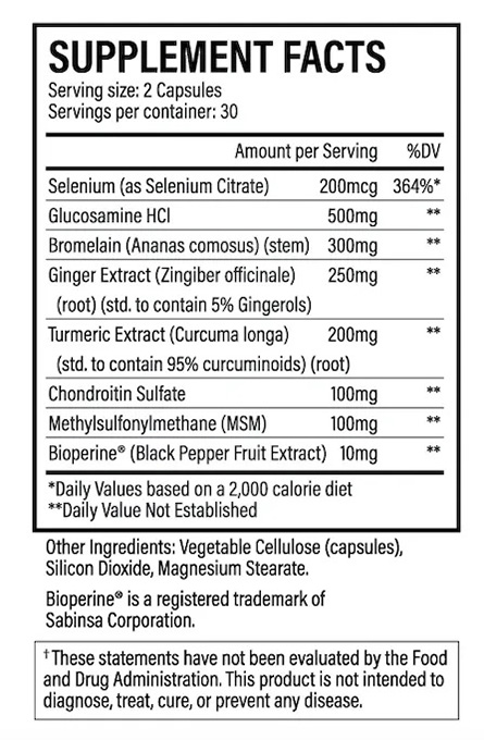 Top rated joint supplement ingredients