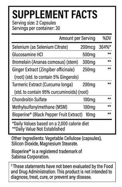 Physio Flex Pro ingredients list